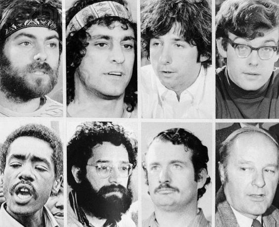 1969 - Crazy 8's (or not, depending on your point of view). The Chicago 8 : Jerry Rubin, Abbie Hoffman, Tom Hayden, Rennie Davis, Bobby Seale, Lee Weiner, John Froines and David Dellinger