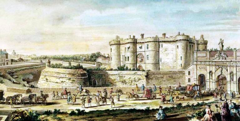 The Bastille in France before the Revolution.