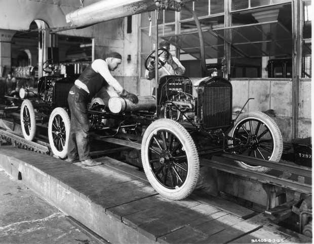 The Ford assembly line