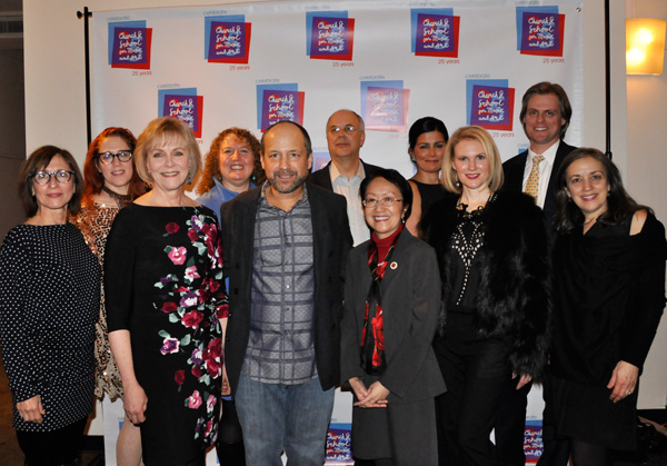 Lisa Ecklund-Flores with board members and supporters of Church Street School for Music and Art at a recent fundraising event