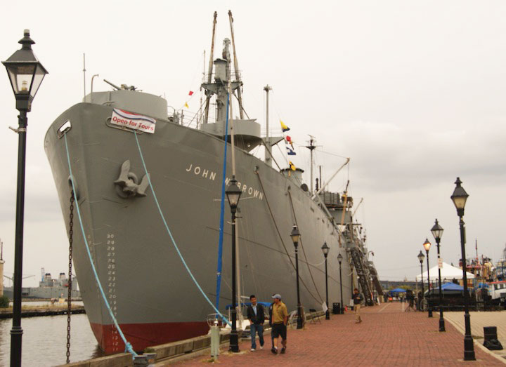 The JOHN W. BROWN will pay a visit on September 9