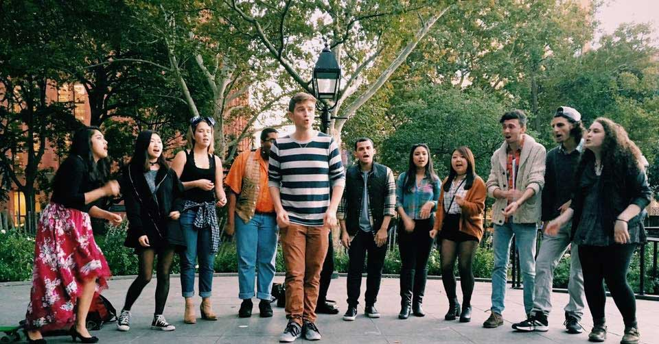 New York University's a cappella singing group, the N'Harmonics, is one of seven world-class vocal ensembles that will perform in Wagner Park on Saturday.