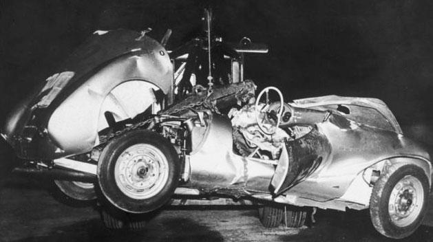 James Dean's wrecked Porsche