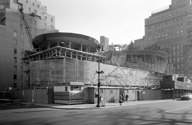 The Museum under construction in photo taken on Nov. 12, 1957