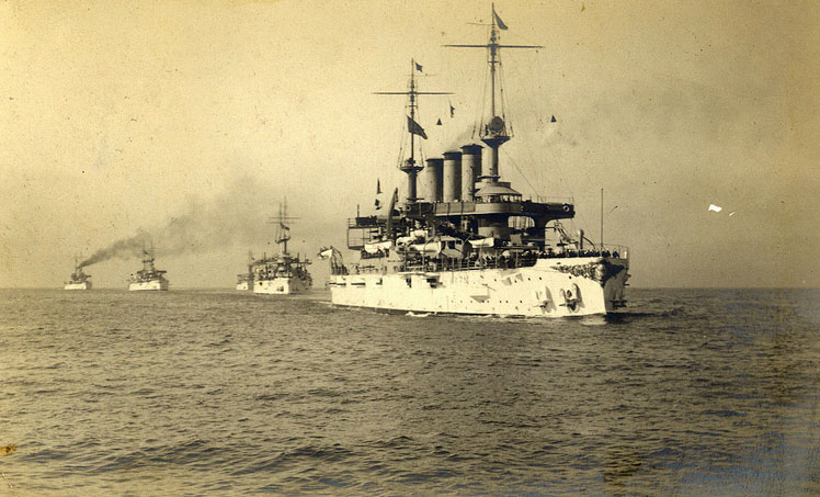 The Great White Fleet, consisting of 14,000 sailors on 16 battleships and accompanying vessels, was sent around the world for fourteen months by President Roosevelt. The fleet's journey started on December 16, 1907, and concluded on February 22, 1909.