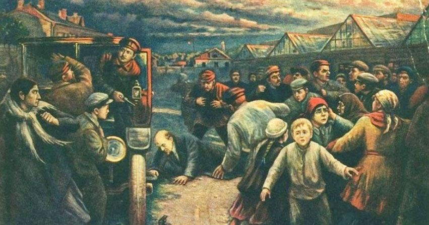 Vladimir Pchelin's depiction of the assassination attempt