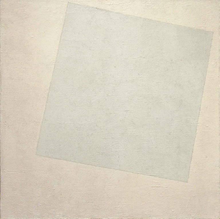 Suprematist Composition. White on White is an abstract oil-on-canvas painting by Kazimir Malevich. It is one of the more well-known examples of the Russian Suprematism movement, painted the year after the October Revolution.