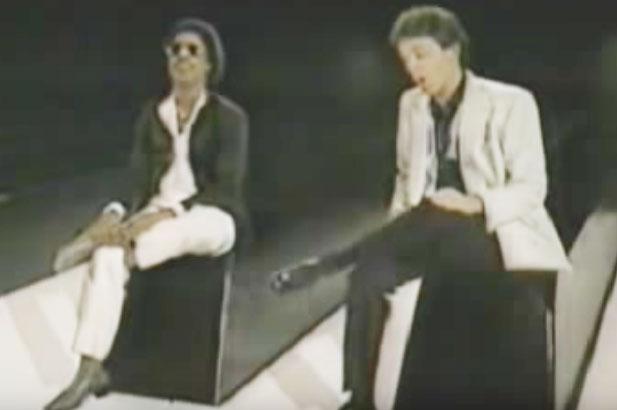Stevie Wonder and Paul McCartney in simpler times