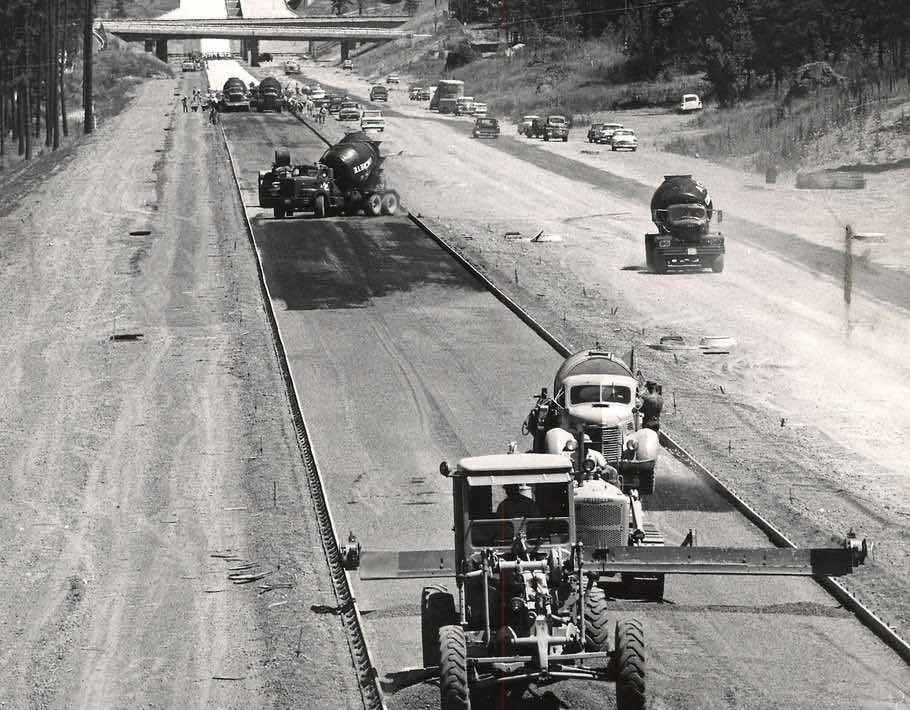 Construction of the Interstate Highway System, which started in 1956.