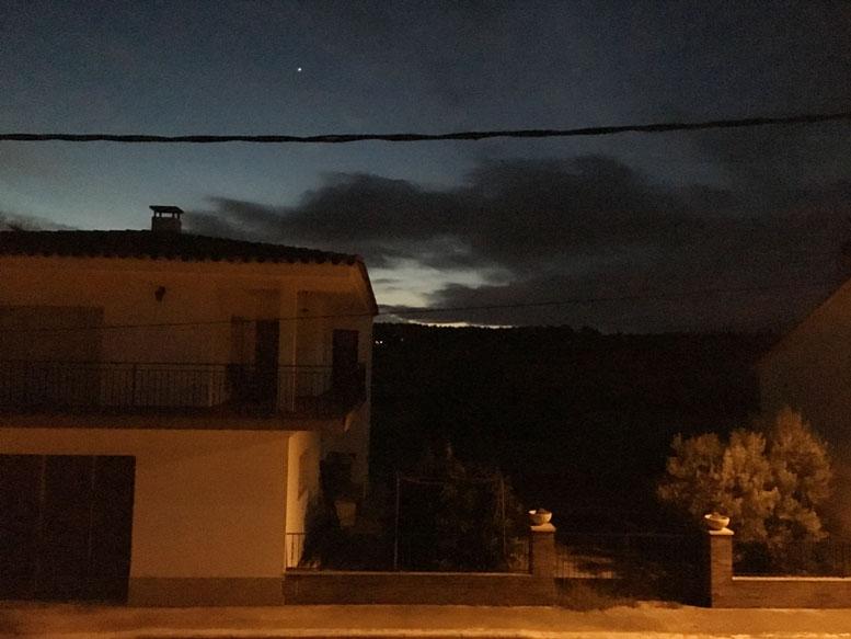 Venus, the morning star just before sunrise