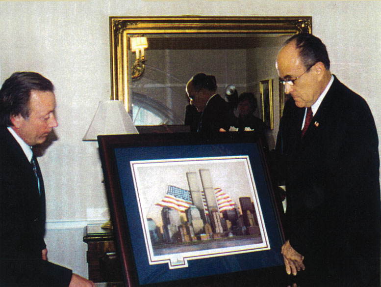 One of my treasured memories was presenting  a framed print to Mayor Rudy Giuliani