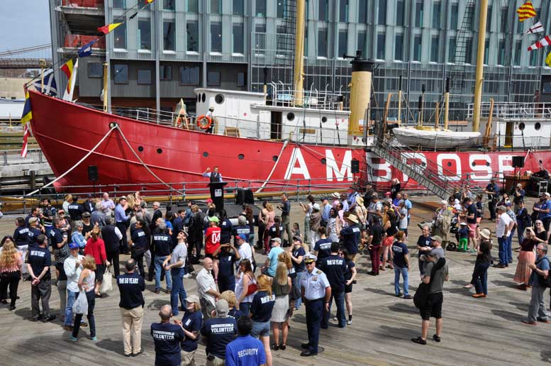 The lightship Ambrose, which once stood sentinel at the mouth of New York's Harbor, and is now part of the South Street Seaport Museum's fleet of historic vessels, will soon undergo a $4.5-million restoration.