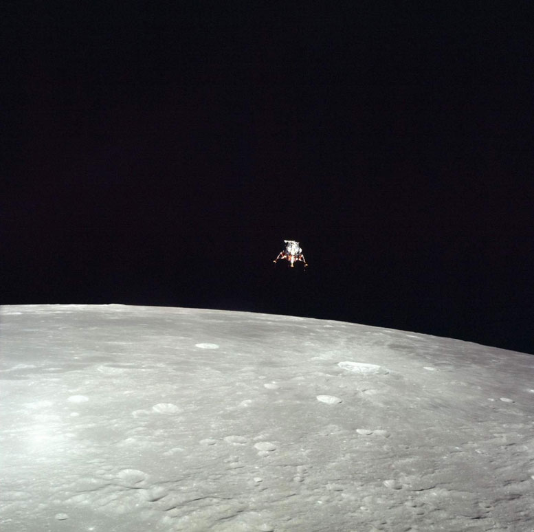 Apollo 12 Lunar Module Descends