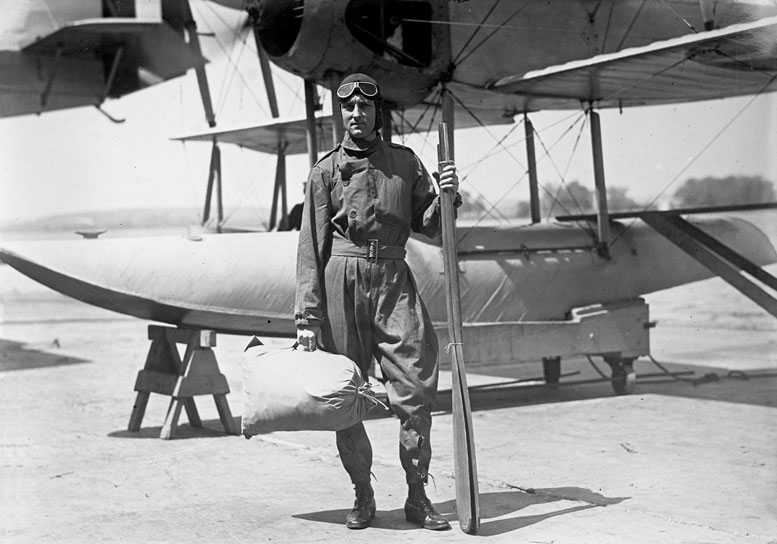 U.S. Admiral Richard E. Byrd leads the first expedition to fly over the South Pole.