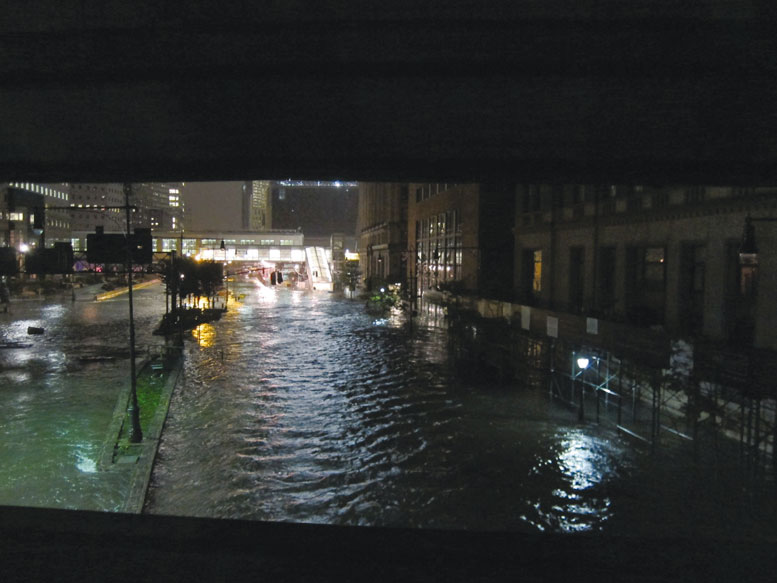 The flooding of West Street during Sandy