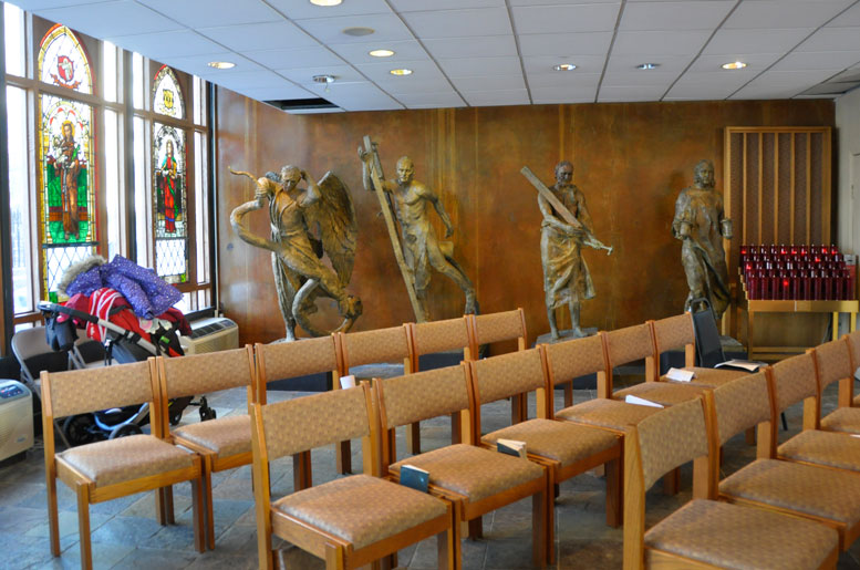 Many of the artworks and fixtures that will be removed from Saint Joseph Chapel, when it is demolished in the weeks ahead, are going to be donated to new churches in Ghana.