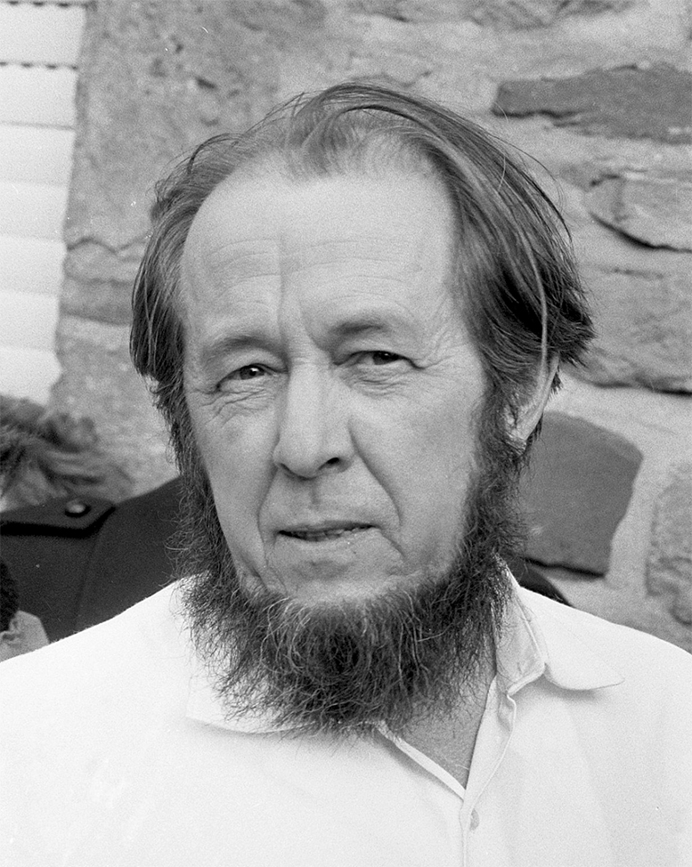 "Aleksandr Isayevich Solzhenitsyn ""A man is happy so long as he chooses to be happy and nothing can stop him"""