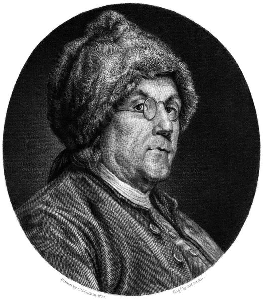 Benjamin Franklin and his 'double spectacles'