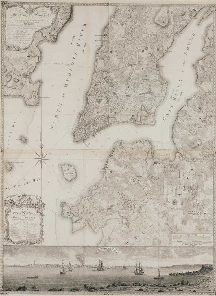 The map by Bernard Ratzer was the first comprehensive chart of New York ever produced.