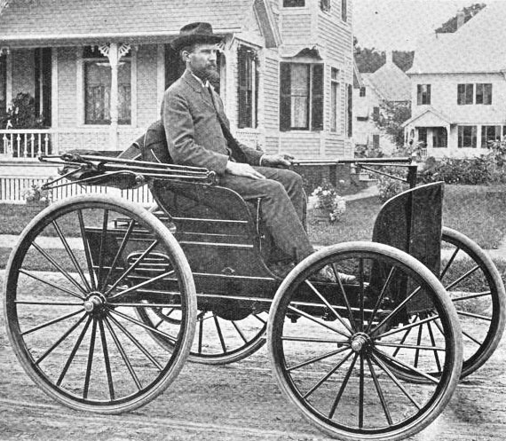 1895 - Charles Edgar Duryea was the engineer of the first-ever working American gasoline-powered car and co-founder of Duryea Motor Wagon Company