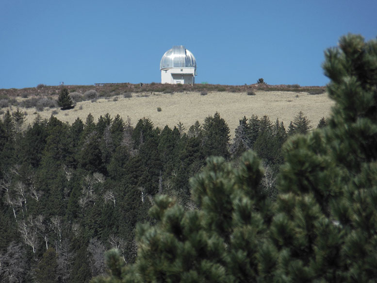 Magdalena Ridge Observatory at 10,612ft  Photo: Mackenzie Waggaman