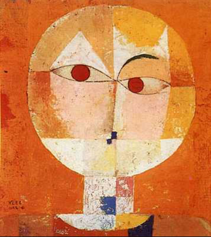 "Paul Klee ~ Senecio 1922 oil on canvas ""A line is a dot that went for a walk."""
