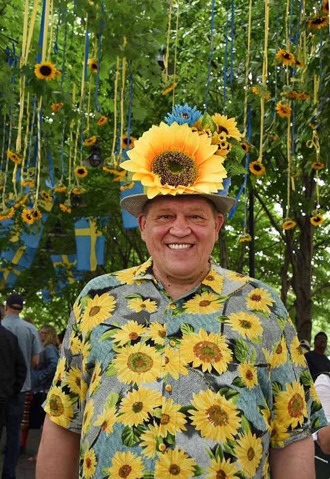 swedishfesmanwithflowers