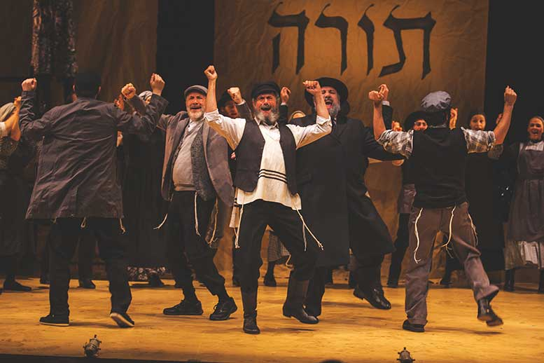 Steven Skybell leads an ensemble cast in the Yiddish-language production of 'Fiddler on the Roof,' at the Museum of Jewish Heritage. Credit: Victor Nechay/ProperPix