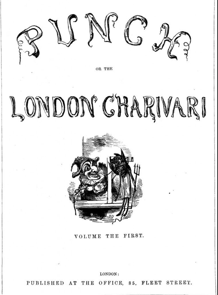 The cover of Punch magazine volume 1, published in London in 1841