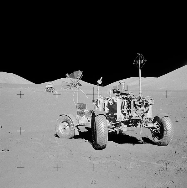 Apollo 17 rover at final resting place