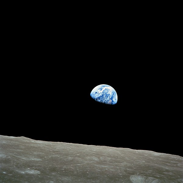 Earthrise, taken from Apollo 8 by astronaut William Anders on December 24, 1968