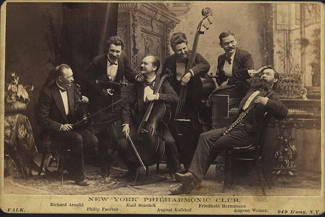 New York Philharmonic Club in the 1880's