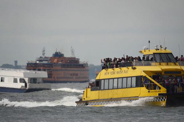 Ferries in New York  Harbor
