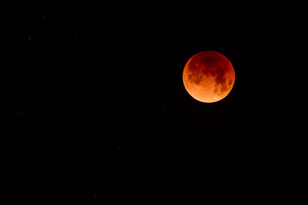 Astrophotographer James Jordan captured this view of the Super Blue Blood Moon at totality from Oakland, California.