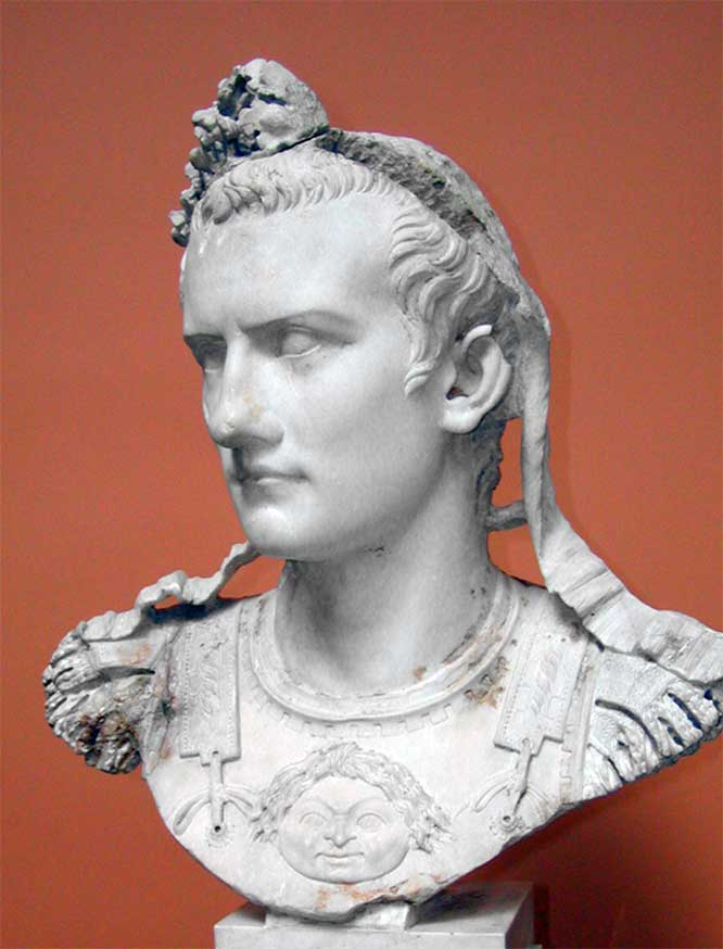 Caligula was Roman emperor from AD 37 to AD 41
