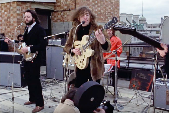 1969 - The Beatles last public performance on the roof of Apple Records in London