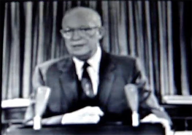 Eisenhower's farewell address warning about the military industrial complex