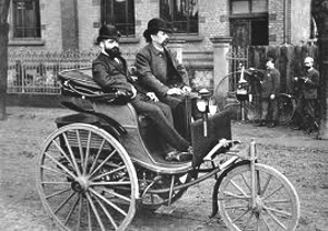 1886 - Karl Benz patents the first successful gasoline-driven automobile.