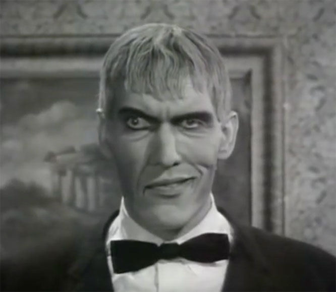 Ted Cassidy as Lurch in the Addams Family