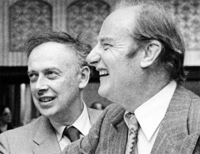 Watson and Crick   They worked together on studying the structure of DNA the molecule that contains the hereditary information for cells.