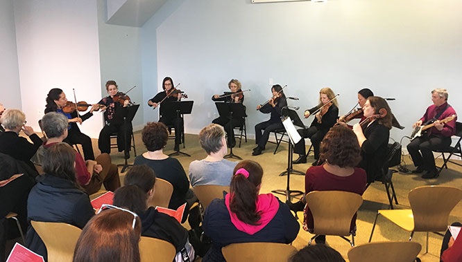 An all-female ensemble from the Knickerbocker Chamber Orchestra