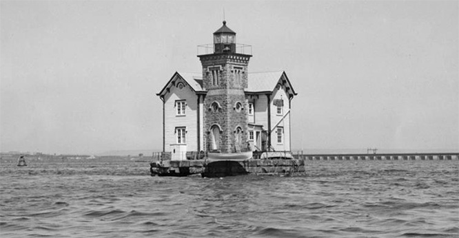 Light house in New York harbor