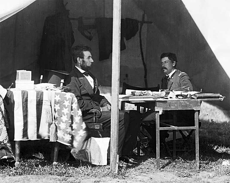 President Lincoln and General McClellen after the Battle of Antietam