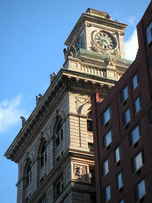 """The clock tower at 346 Broadway, which a State Court of Appeals ruling says can be closed, gutted, and converted into a private home -- despite its legally protected status as an """"interior""""landmark, which requires public access."""