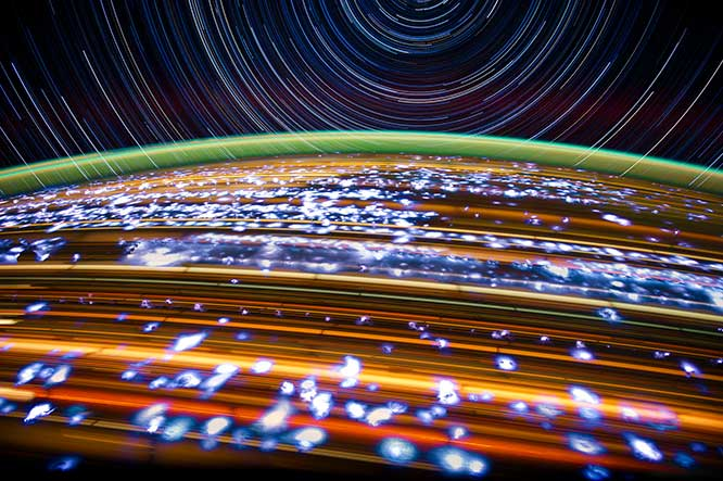 """Lightning Bugs"" 2012 by Donald R. Pettit, NASA astronaut"