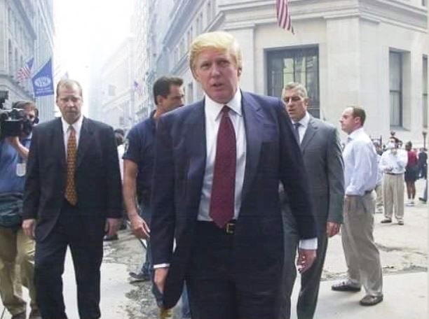Donald Trump on Wall Street after 9/11