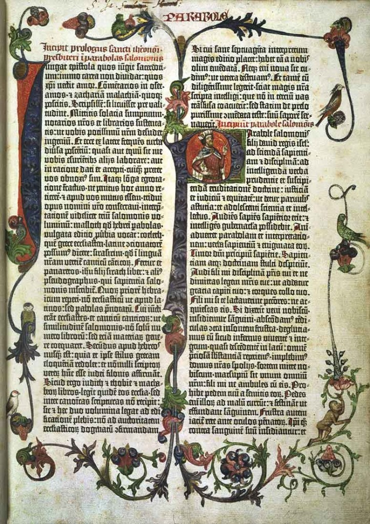 A page from The Gutenberg Bible