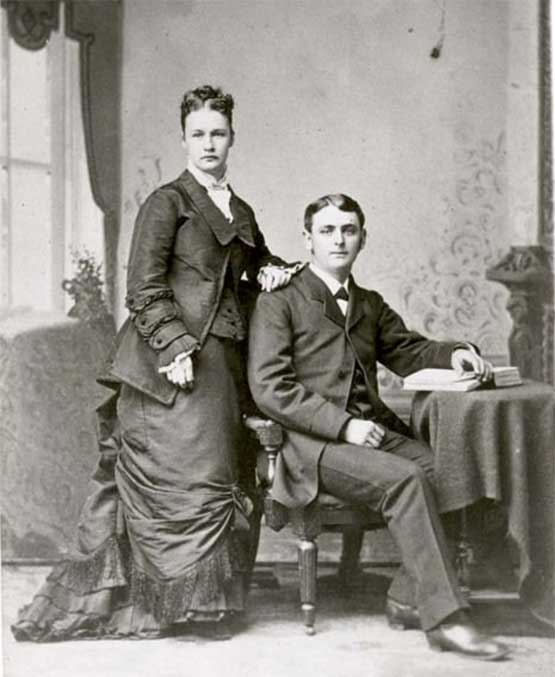 1887 Argonia, Kansas elects Susanna M. Salter as the first female mayor in the United States pictured here with her husband