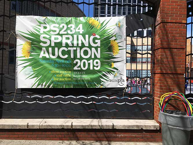 PS 234 Spring Auction Banner