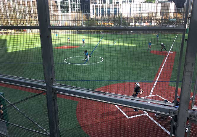 Softball at the Battery Park City Ballfields